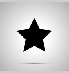 cute star simple black icon vector image