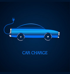 electric auto icon car in battery form vector image