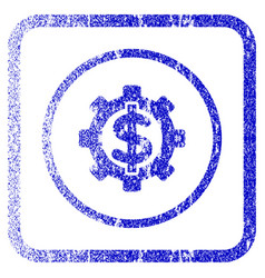 financial options framed textured icon vector image