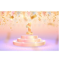 first place first anniversary vector image