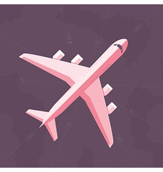 Flat airplane background vector
