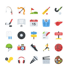 flat icons activity pack vector image