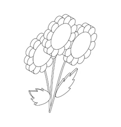 Flowers icon isometric 3d style vector image