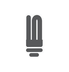 fluorescent lamp icon on white background vector image