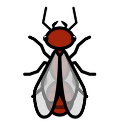 flying red ant logo symbol icon sign vector image