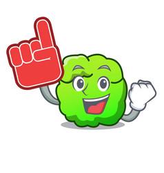 Foam finger shrub mascot cartoon style vector
