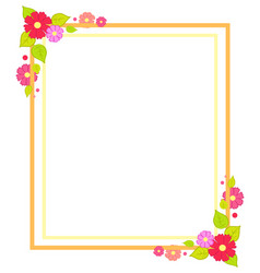 Frame with flowers summer or spring season concept vector