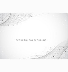 Geometric abstract background with connected lines vector