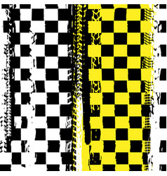Grunge checkered racing background vector