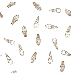 Hand drawn ice cream seamless pattern vector