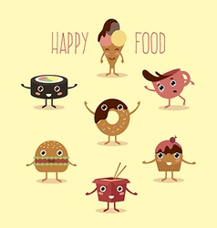 happy food vector image