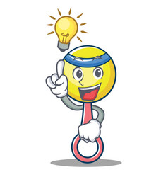 Have an idea rattle toy mascot cartoon vector