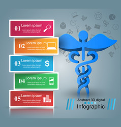 health icon 3d medical infographic vector image