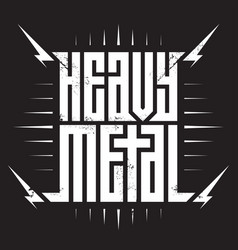 heavy metal - brutal font for labels headlines vector image