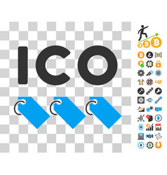 Ico tokens icon with bonus vector