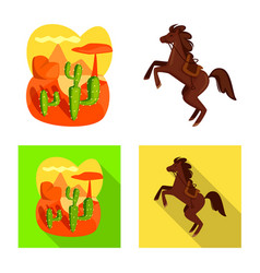 Isolated object texas and history logo set of vector