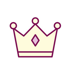 Isolated royal crown line and fill style icon vector