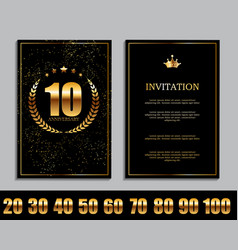 Luxury template set of anniversary celebration vector