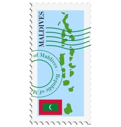 mail to-from Maldives vector image