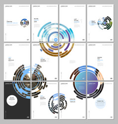 minimal brochure templates with colorful blue vector image