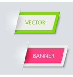 Modern banners on gray background vector