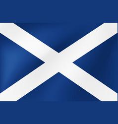 national flag wales detailed design vector image