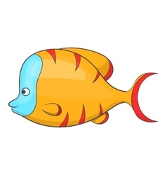 Orange fish icon cartoon style vector