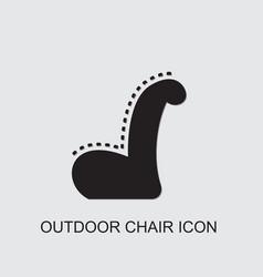 Outdoor chair icon vector