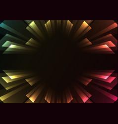 Overlap stripe rush in dark background vector