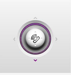 Phone button call support idea vector