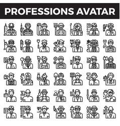 Professions and occupation avatar vector