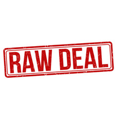 Raw deal grunge rubber stamp vector