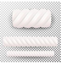 realistic marshmallows candy sweet twist vector image