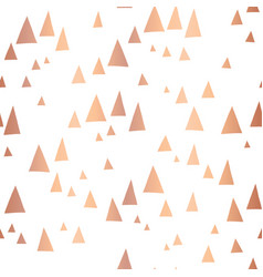 scattered rose gold foil triangles pattern vector image