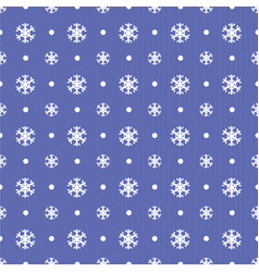 seamless christmas pattern with blue snowflakes vector image