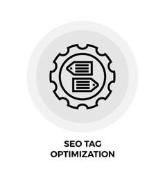 SEO Tag Optimization Line Icon vector image