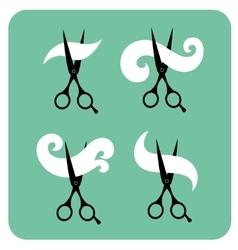 Set of vintage labels for hairdresser and barber vector