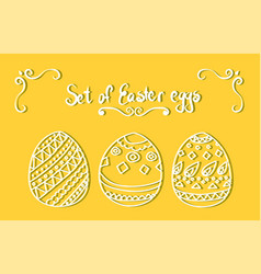set of white easter eggs vector image