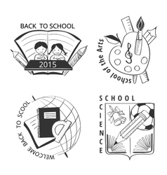 Set vintage school labels vector