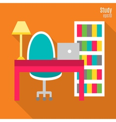 Study in flat style vector image