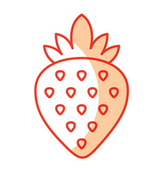 Sweet strawberry fruit vector
