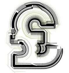 technological font symbol vector image vector image