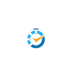 time watch sign logo vector image