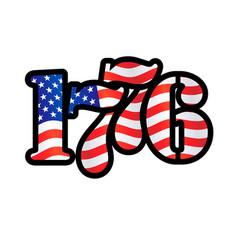 Usa flag 1776 year vector