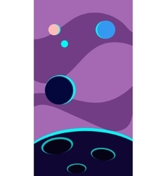 Vertical Landscape Space with vector