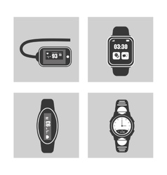 wearable technology set smart watch vector image