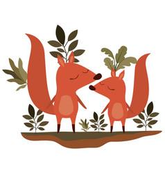 Wild chipmunks couple in jungle vector