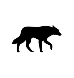 wolf icon isolated sign symbol vector image