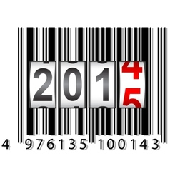 2015 New Year counter barcode vector image
