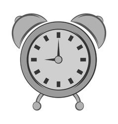 Alarm clock icon black monochrome style vector image vector image